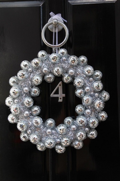 Mirror Ball Disco Wreath