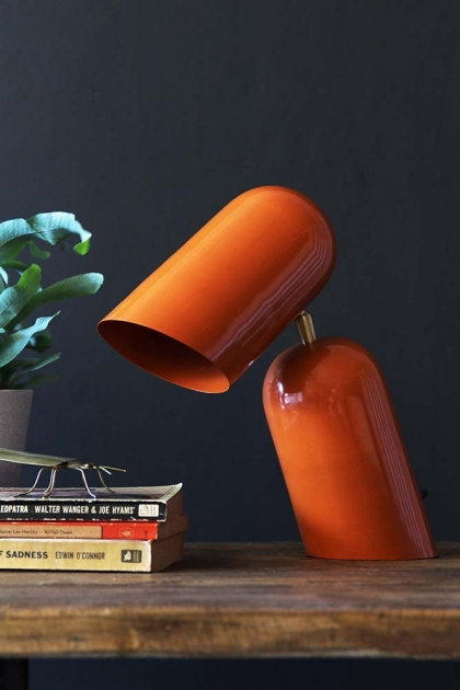 Como Short Circuit Style Desk Lamp - Orange
