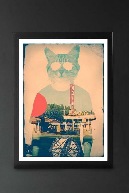 Unframed Cool Cat Art Print