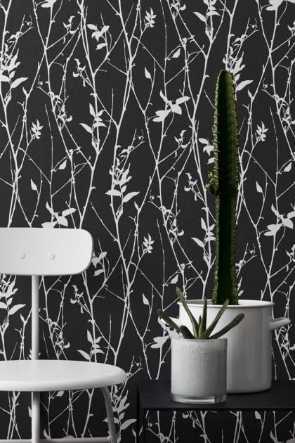 Engblad & Co Spring Tree Wallpaper - Black & White