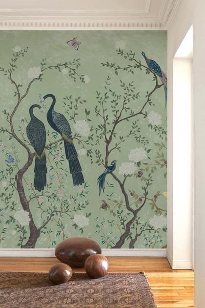 Edo Mural Design Wallpaper Panel - Mint Green