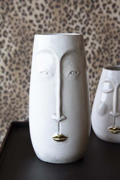 Peace Vase - Eyes Open with Gold Lips Vase