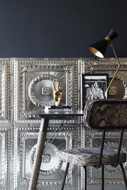 Tudor Rose & Chaplet Tin Tile