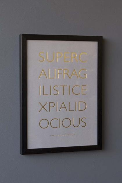 Framed Supercalifragilisticexpialidocious Art Print