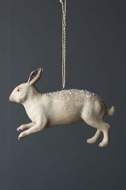 Frosted Hare Decoration