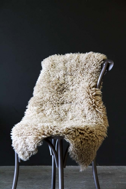 Genuine Sheepskin Rug - Curly Beige
