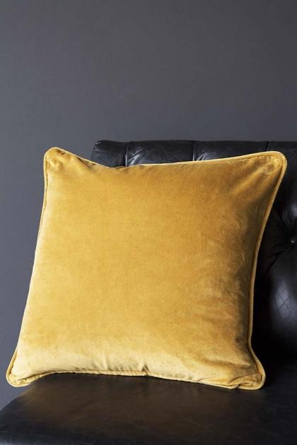 Glorious Velvet Cushion - Mustard