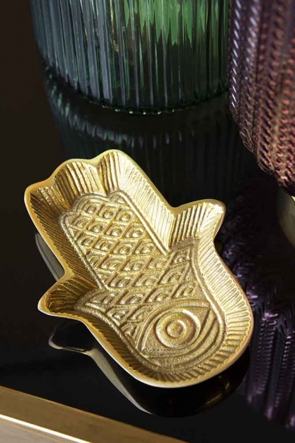 Gold Hamsa Hand Trinket Dish