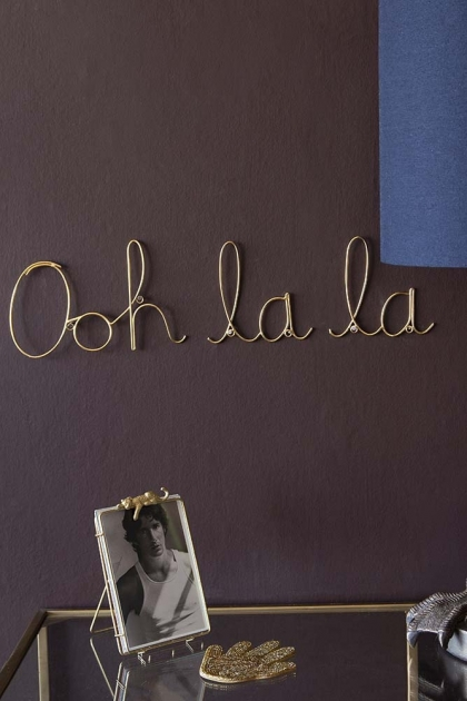 Ooh La La Metal Gold Sign
