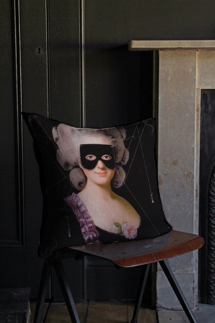Lifestyle Image of Grace Cushion in a traditional portrait style