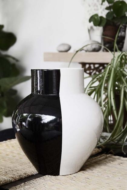Handmade Moroccan Black & White Vase