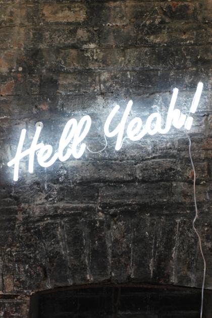 Hell Yeah! White LED Neon Light