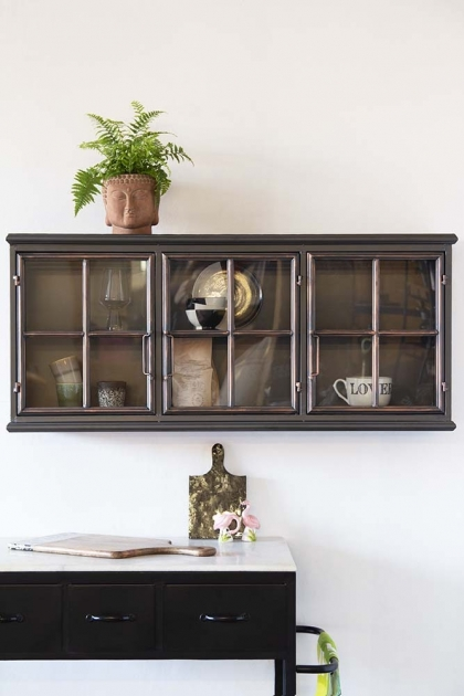 Industrial Crittall Glass Wall Cabinet