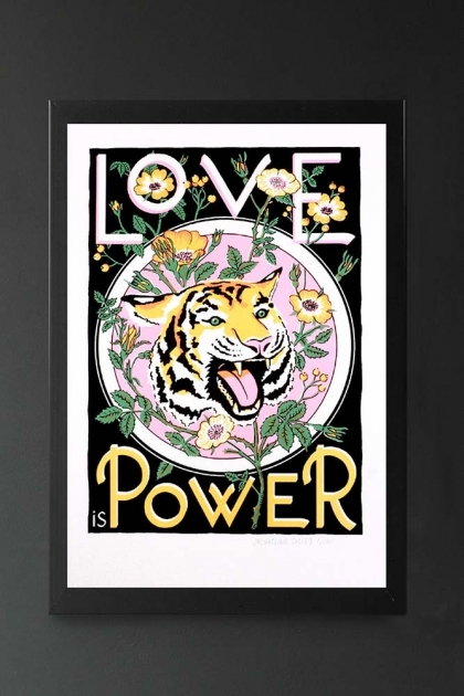 Unframed Limited Edition Love is Power Screen Print