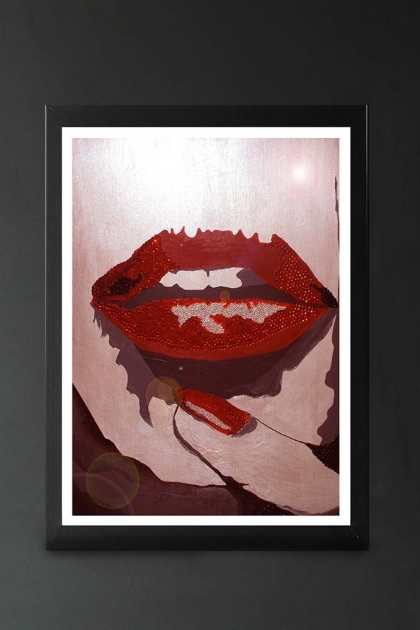 Unframed Lips Art Print By Mark Bennett