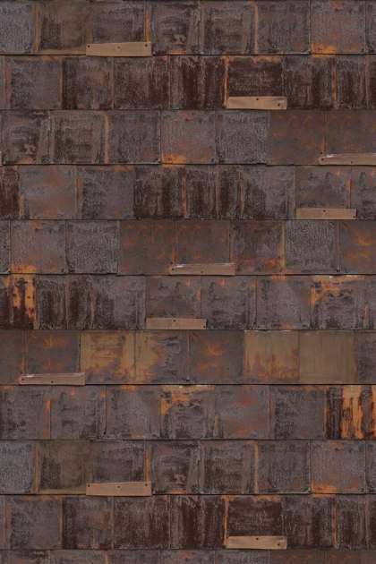 cutout Image of NLXL PHE-19 Rusted Metal Wallpaper by Piet Hein Eek on white background