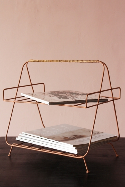 Iron and Bamboo Magazine Rack