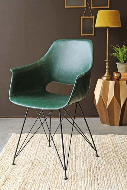 Prentice Faux Leather Dining Chair - Forest Green