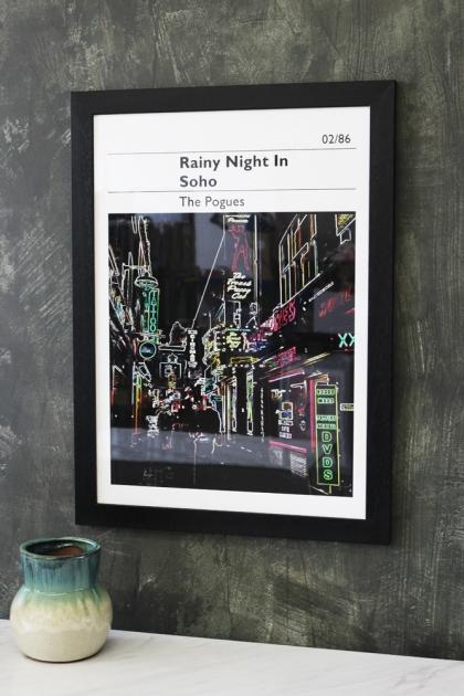 Rainy Night In Soho - The Pogues Art Print - Choose Framed Or Unframed