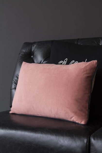 Rectangle Velvet Cushion - Lilac & Rose Pink