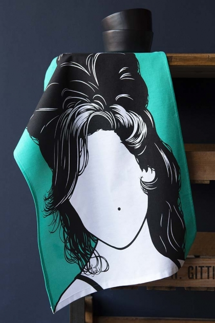 Rock Icon Tea Towel - Amy Winehouse