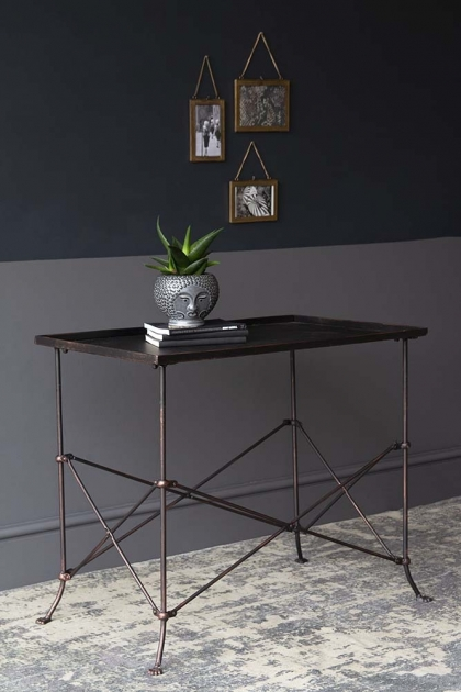 Rustic Iron Tray Table With Paw Feet