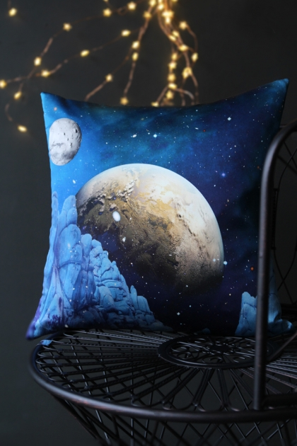Elli Popp Luna Rock Silk Cushion