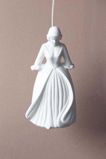 Serene Belle Figurine Pendant Ceiling Light