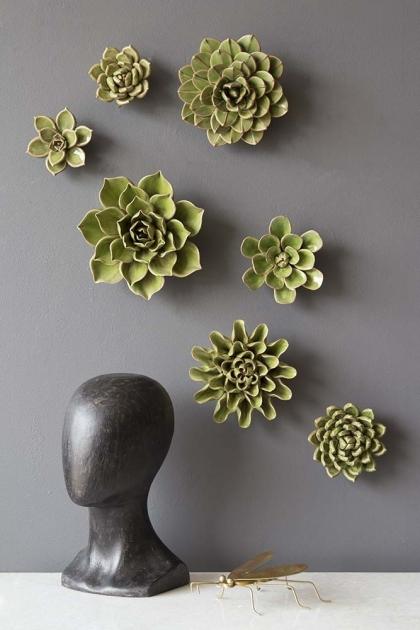 Set Of 7 Flower Wall Sculpture