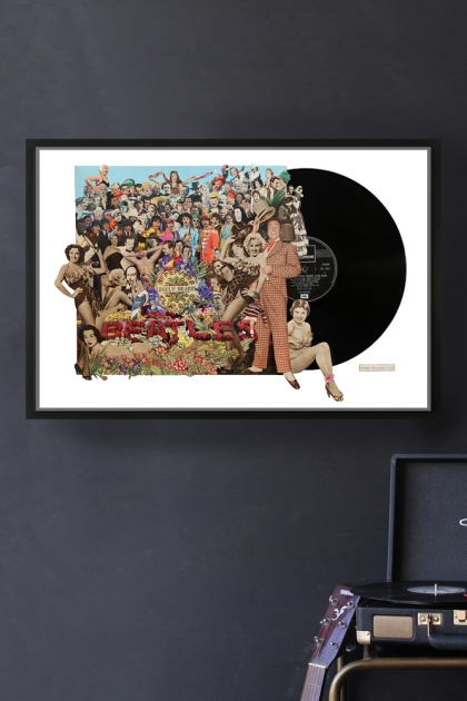 Unframed The Beatles Sgt. Pepper's Lonely Hearts Club Band Record Cover Collage by Alison Stockmarr