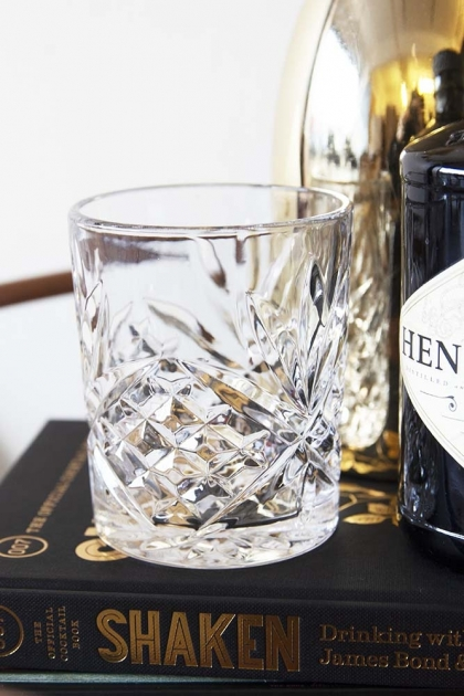 Old Fashioned Crystal Style Tumbler - Clear
