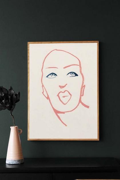 Unframed Silhouette 01 Art Print by Amelie Hegardt