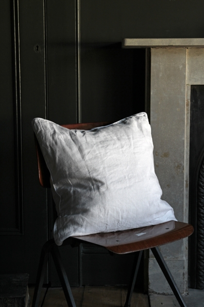 Lisbon Soft Linen Cushion - Silver Grey