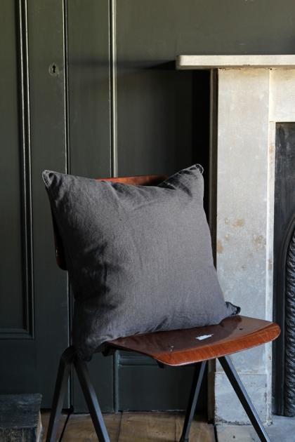 Lisbon Soft Linen Cushion - Slate Grey
