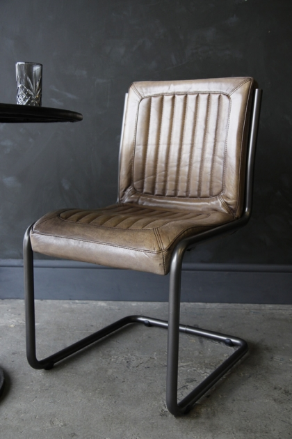 Soft Brown Leather Office Chair