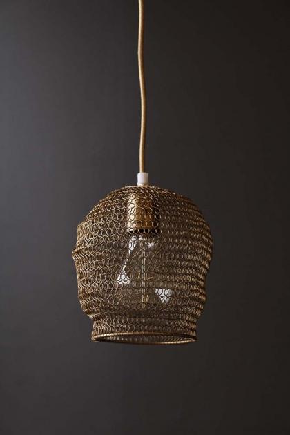 Tainted Bubble Antique Bronze Chain Link Pendant Light