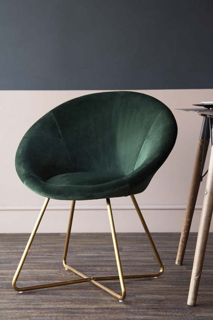 The Grand Velvet Circular Dining Chair - Rich Green