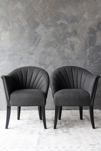 The Lovers Herringbone Tweed Chair - Homme Grey