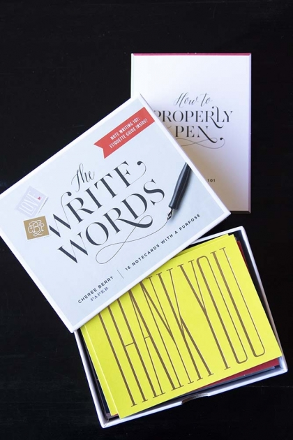 The Write Words Greeting Notecards & Booklet