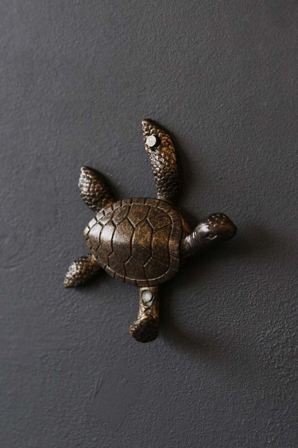 Antique Brass Turtle Hook