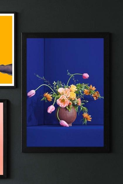 Unframed Blue Blomst 01 Art Print By Uffe Buchard