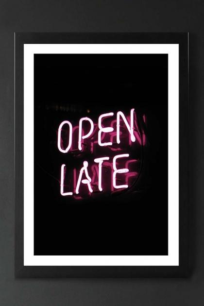 Unframed Open Late Art Print