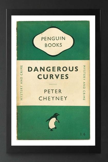 Unframed Penguin Books: Dangerous Curves Fine Art Print