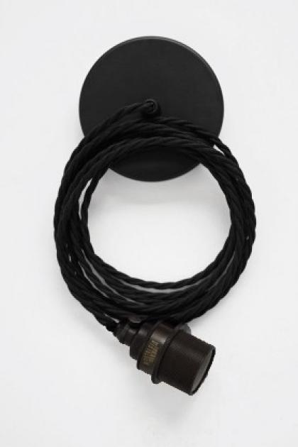 detail image of Vintage Antique & Black Pendant Set on pale background