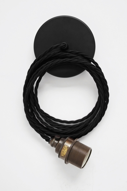 Vintage Antique & Black Pendant Set