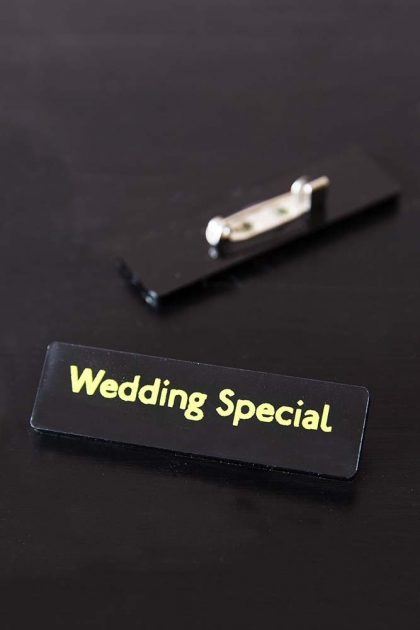 Wedding Special Bus Pin Badge