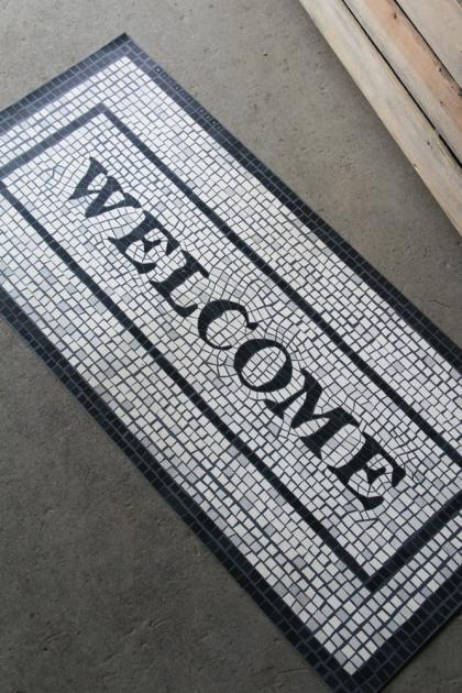 Vinyl Mosaic Welcome Mat