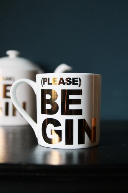 Please Be Gin Bone China Mug