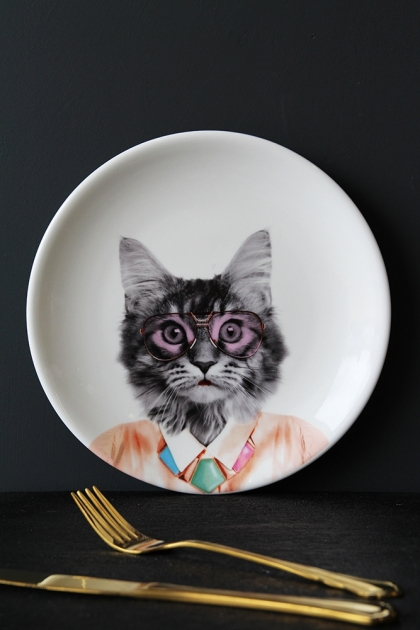 Wild Ceramic Plate - Courtney Cat