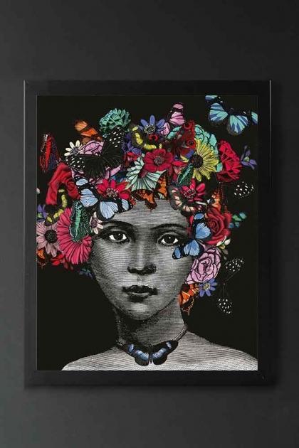 Unframed Butterfly Lady Open Edition Art Print